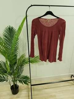 Hollister Red Long Sleeve Top