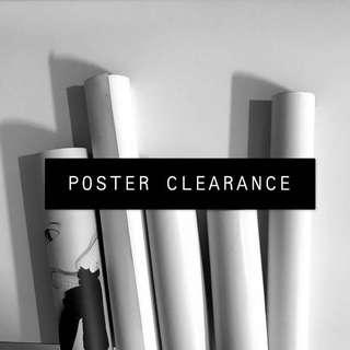 POSTER CLEARANCE (bts/exp/ikon/wanna one)
