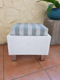 2pcs outdoor ottoman chairs