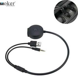 Y.  Moker Bluetooth Music Streaming Adaptor for BMW,Mini Coopers,Works with Apple Android Bluetooth Capable Devices - Premium CSR Chipset Enjoy HiFi Music