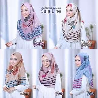 🚚 PO Instant hijab sala line