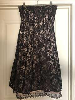 White House Black Market Women's Strapless Lace Dress FREE postage