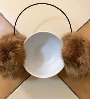 Ear muffs faux fur