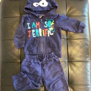 🚚  西班牙品牌tuctuc嬰幼兒深藍色休閒連帽套裝(12M/75cm~90cm)