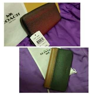 0d7f3530ff33 (CLEARANCE SALE) COACH LONG WALLET - 100% AUTHENTIC