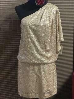 Gold Sequin Venus Cocktail Dress