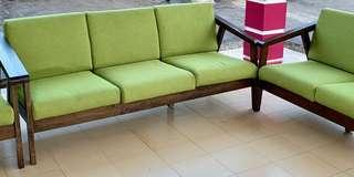 simple wooden sofa