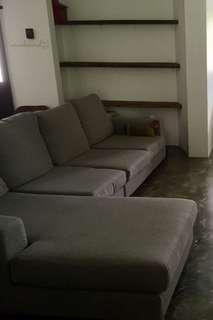 L Shape Sofa with extra cover set