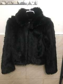 Topshop fur short jacket