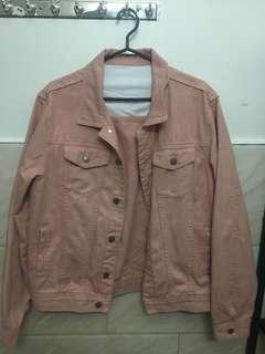 Men's pink denim jacket