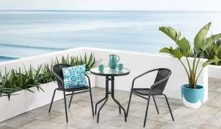 2 chair and 1 table garden set