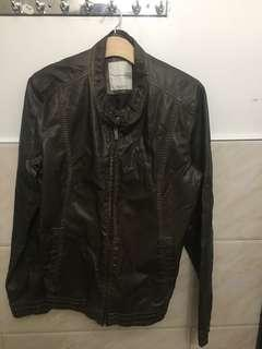 Zara men's leather jacket