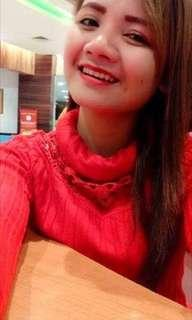 Knit turtle neck merah