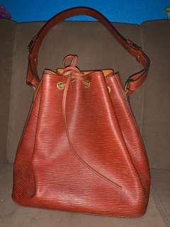 LV Brown Epi Bucket Bag Authentic