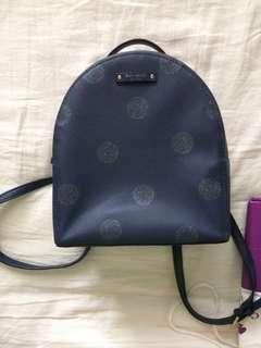 Authentic Kate Spade Sammi Haven Lane frenchy dot blue backpack
