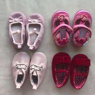 Baby girl crib shoes