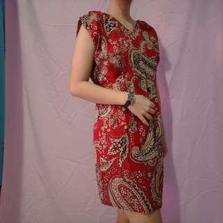 Dress batik fit to L