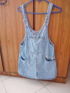 Pull & bear denim pinafore