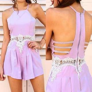 Lilac Lace Playsuit