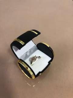 Totoro adjustable ring with treasure chest box