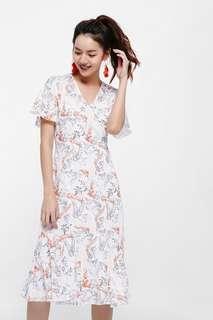 Lovebonito Eloda Printed floral Midi Dress