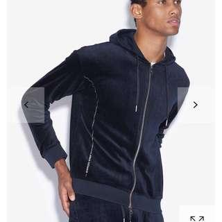 🚚 【咪嚕柯】S號 全新 正品 絨質外套 男外套 AX Armani Exchange 亞曼尼