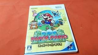 Wii  SUPER PAPER MARIO  game  MADE IN JAPAN 正版碟
