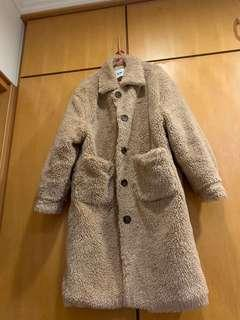 🚚 泰迪熊毛毛長版外套