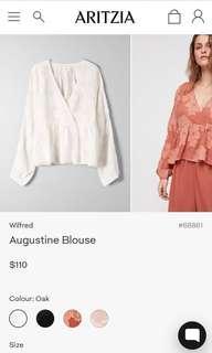 Aritzia brand new white blouse size s