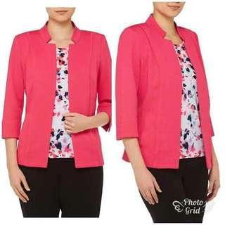 Blazer Branded TANJAY Pink Luaran Outer Bigsize Jumbo Plussize