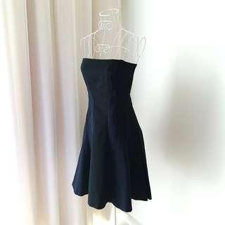 Authentic DKNY Navy Blue and Black Tube Dress