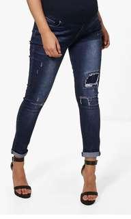 Boohoo Maternity Jeans with rips BNWT
