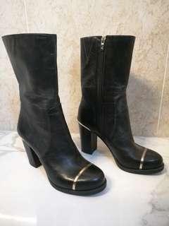 Carolinna Espinosa Genuine Leather Boots