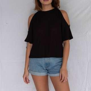 HnM Black Top with shoulder cut outs