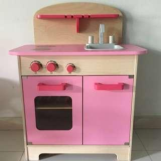 🚚 Hape Pink Gourmet Chef Play Kitchen Set