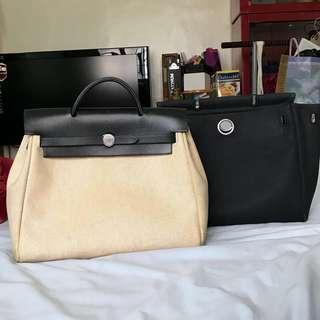 Hermès 2 in 1 Toile backpack