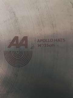 "Sabian Hihats 14"" big and ugly apollo series"