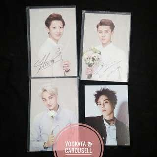 EXO ASSORTED OFFICIAL POSTCARDS