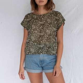 TOPSHOP Sheer printed blouse