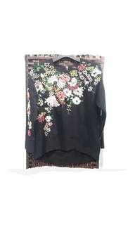 Flower Black Top