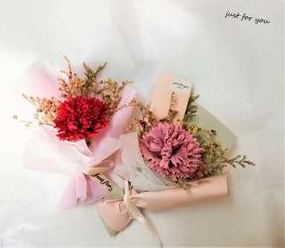 🚚 【just for you】母親節花束、康乃馨、乾燥花、香皂玫瑰