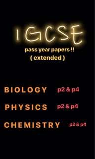 IGCSE PASS YEAR PAPERS !!