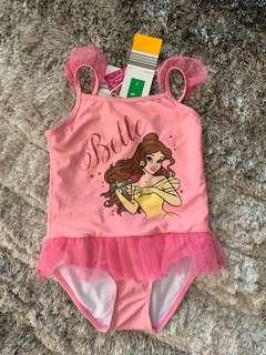 🚚 New! Disney Princess Belle Swimsuit for Girl (7yo)