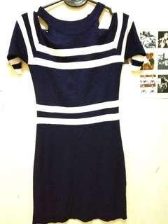 TURUN HARGA// DRESS NAVY BODYFIT