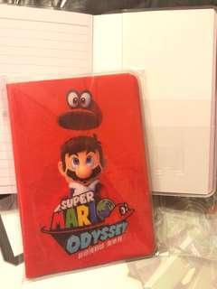 Mario 瑪利奧 Mario Odyssey 記事本 note book 兩本
