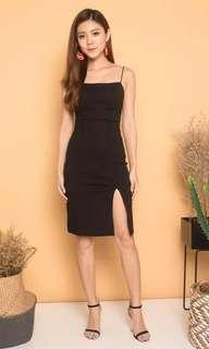 LBR CCERDILIA CAMI 2 WAYS DRESS IN BLACK