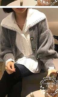 正韓針織寶石外套
