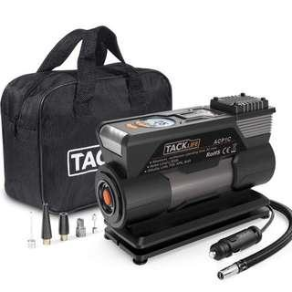 TACKLIFE 🔥🔥🙏 3.9 out of 5 stars  55 Reviews TACKLIFE Black&Orange ACP1C Portable, DC 12V 150PSI Air Compressor Pump, Digital Tire Inflator with Gauge, LED Flashlight, 4 Nozzle Adaptors and Extra Fuse(150 PSI)