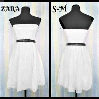 Zara white eyelet dress