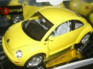 Volkswagen New Beetle 1998 1:18 Bburago Diecast Model Car
